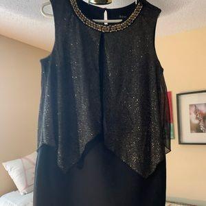 EnFocus Studio Black & Gold Party Dress